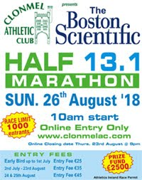 Clonmel Half-Marathon... Sun 26th Aug 2018