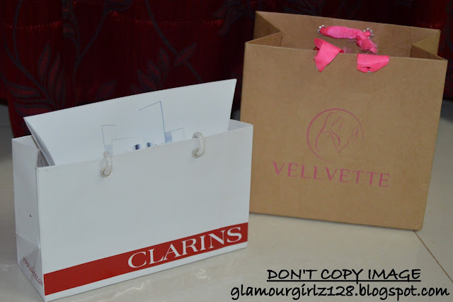 Goodie bags from Clarins