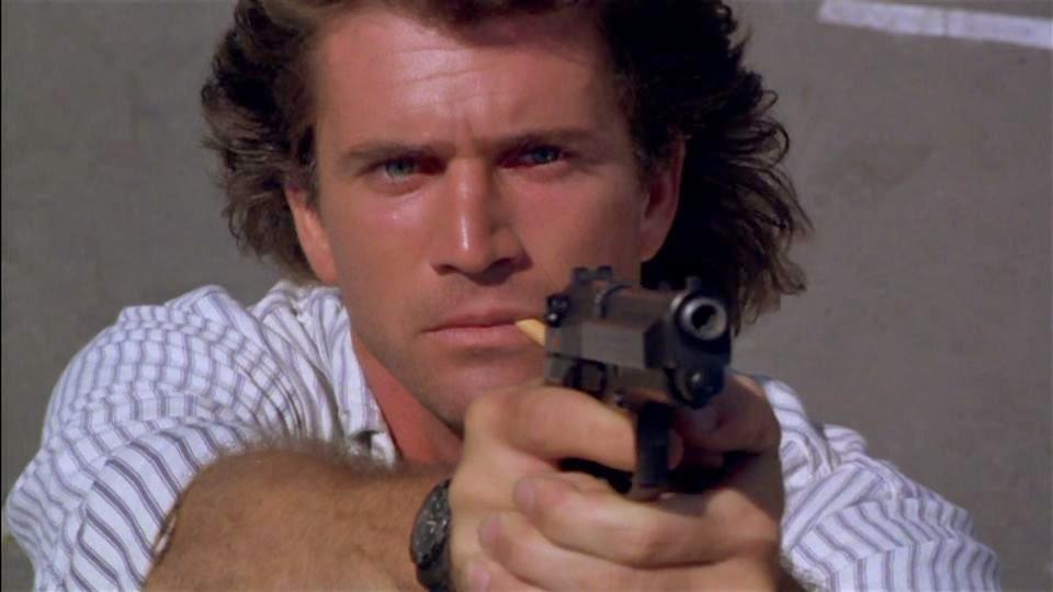 Mel Gibson as Martin Riggs... too fuckin' cool!