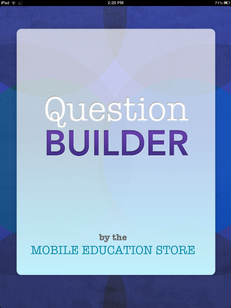 Carrie 39 s speech corner app review question builder for Questions to ask a builder