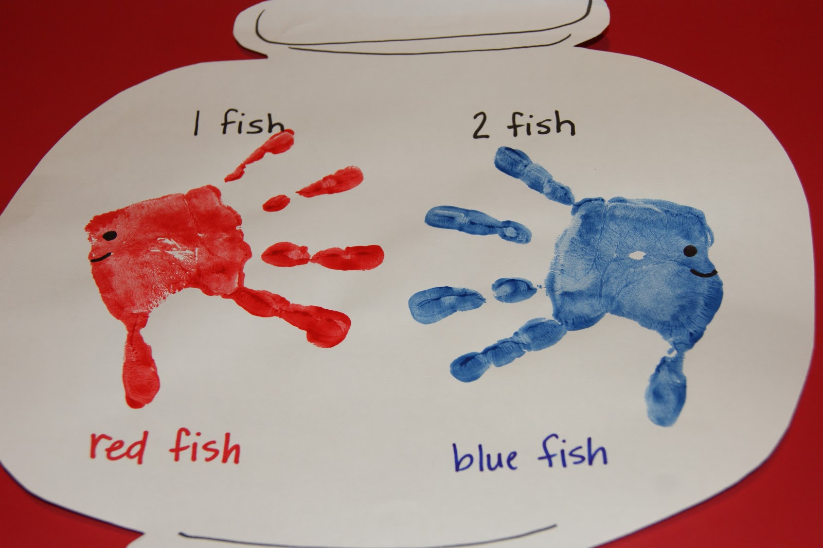 Ms boedee 39 s kinder prep dr seuss 1 fish 2 fish red for Red fish blue fish dr seuss