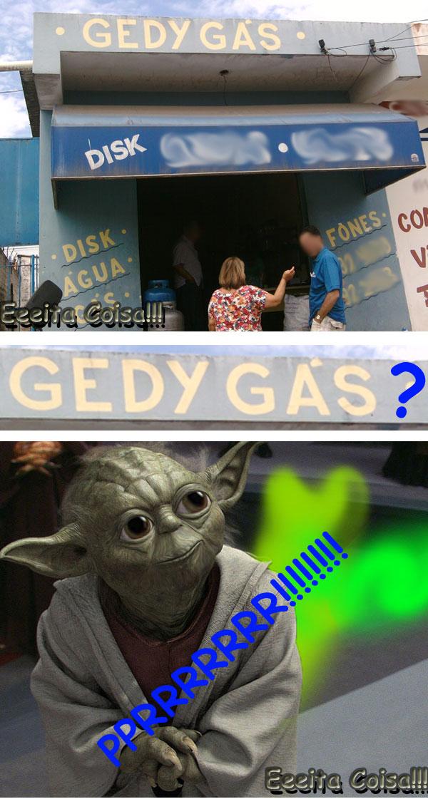 Jedi peida é a dúvida que fiquei depois de ver a fachada desse estabelecimento que vende Gás de cozinha
