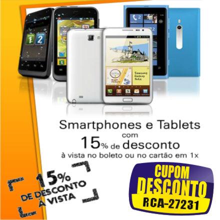 Cupom eFácil - Smartphones e Tablets com Desconto