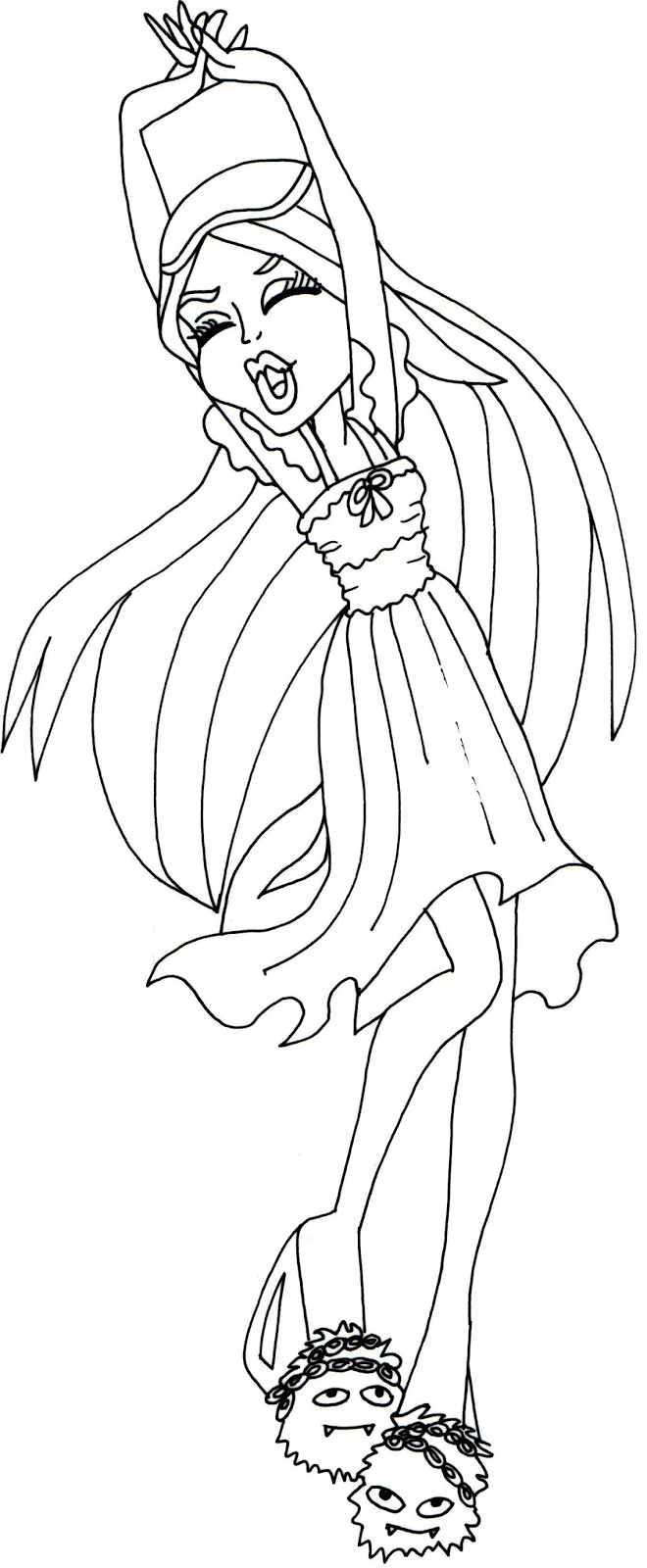 Free Printable Monster High Coloring Pages Spectra Vondergeist