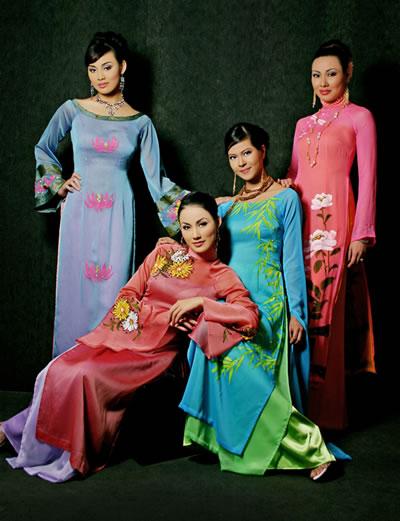 Ao Dai Vietnam Dresses