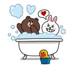 emoticones de parejas bañandose