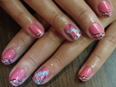 simple+pink+nail+art Pink nails design   Magic Nail Manicure ideas in pinky shades