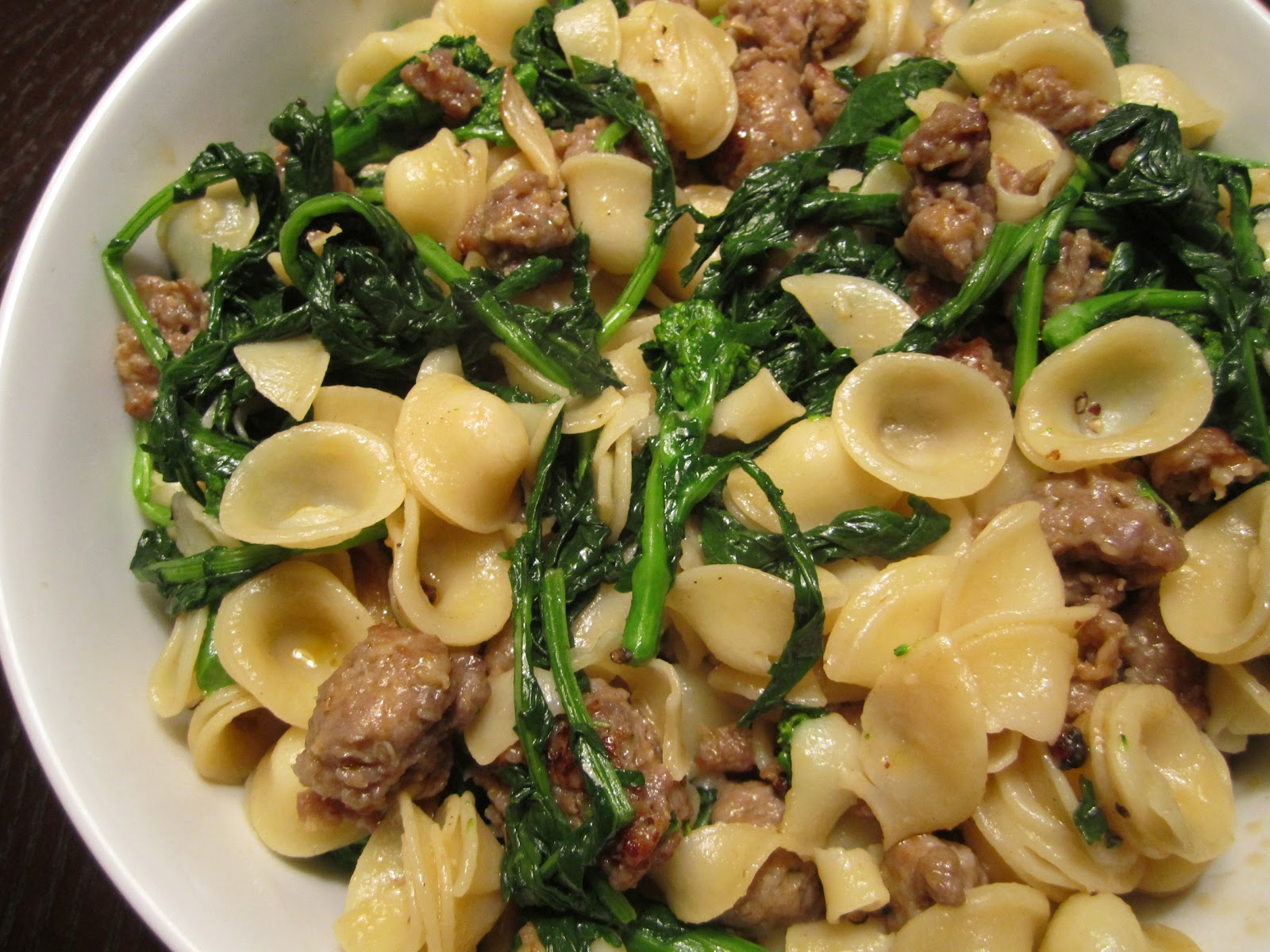 broccoli rabe pasta with spicy italian sausage zucchini noodles pasta ...