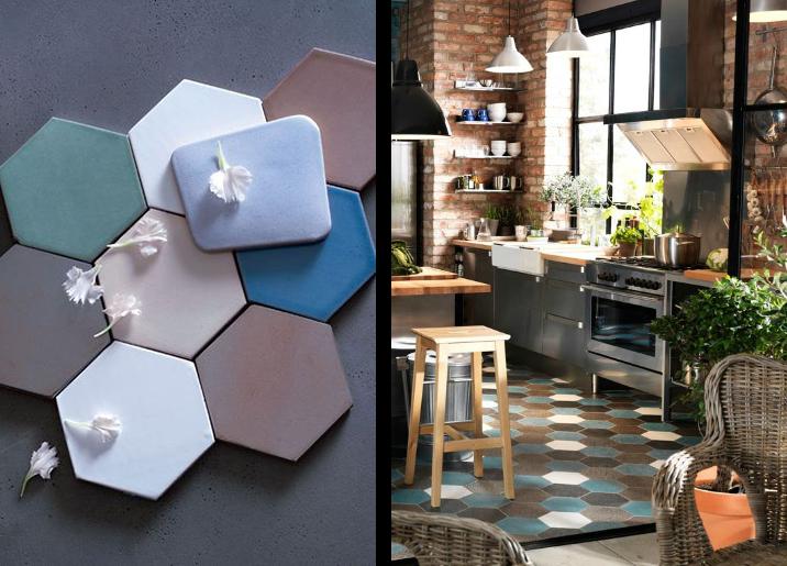 La fabrique d co les tomettes anciennes et modernes le malon hexagonal d - Decoration maison avec tomettes ...