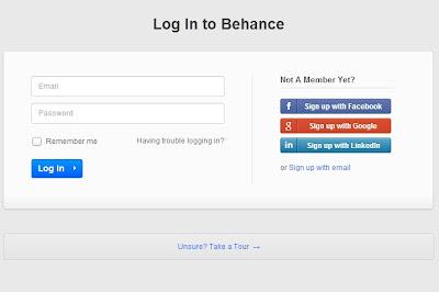 Behance login