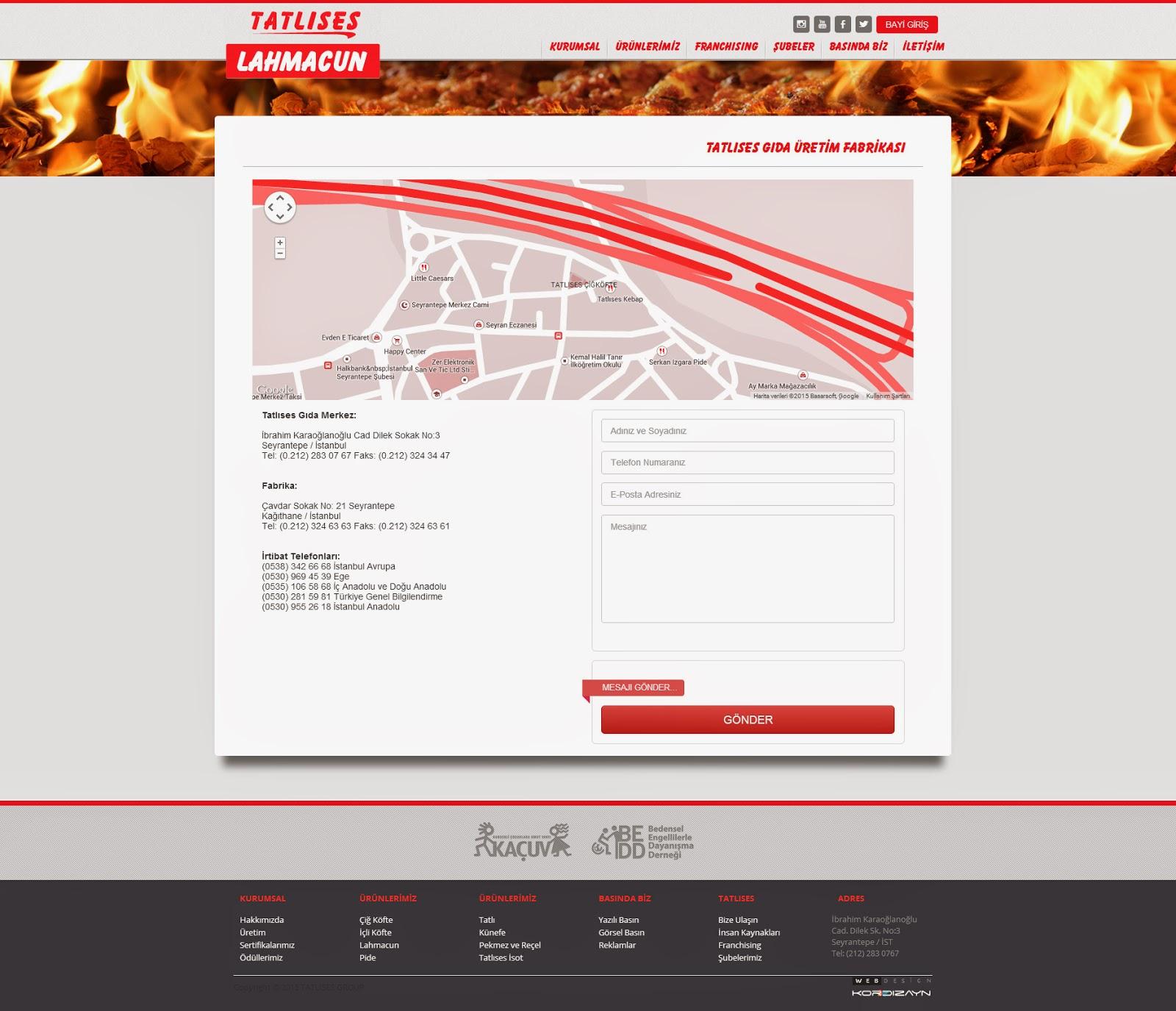 Tatlıses Lahmacun Web Tasarım - AltSayfa Detay