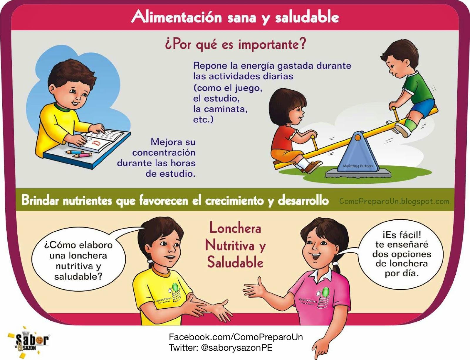 LONCHERAS NUTRITIVAS Y SALUDABLES PARA NIÑOS - Jueves COMIDA SANA