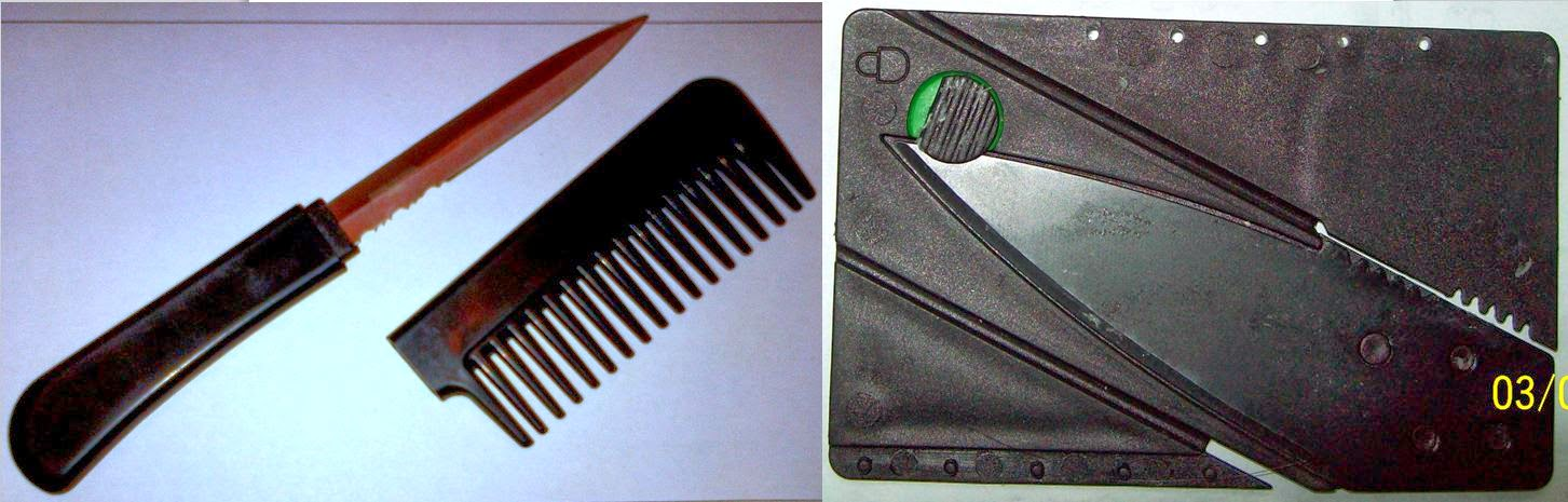 Comb Dagger (SFO) & Credit Card Knife (MCI)