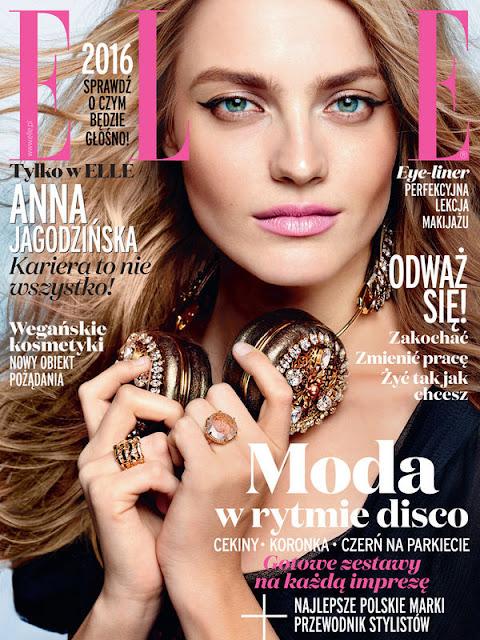 Fashion Model, @ Anna Jagodzinska - Elle Poland, January 2016