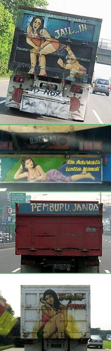 Keunikan Gambar Truk Indonesia