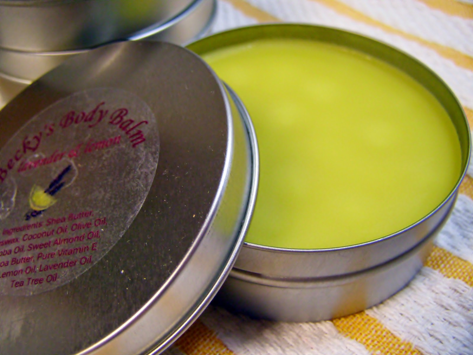 Lemon & Lavender essential oils in Body Balm