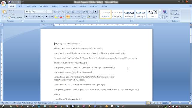 menyimpan dokumen word