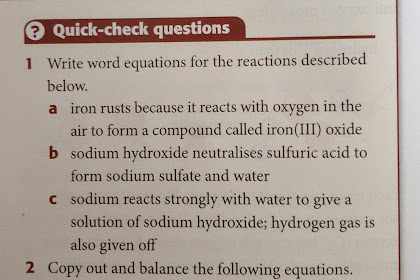 IGCSE Chemistry: Chemical Equation Worksheet