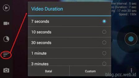Tutorial Frame Lapse Menu Pengaturan Durasi Video