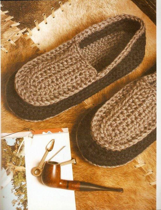 Patrón: Pantuflas de hombre imperdibles!!! | Tejido Facil
