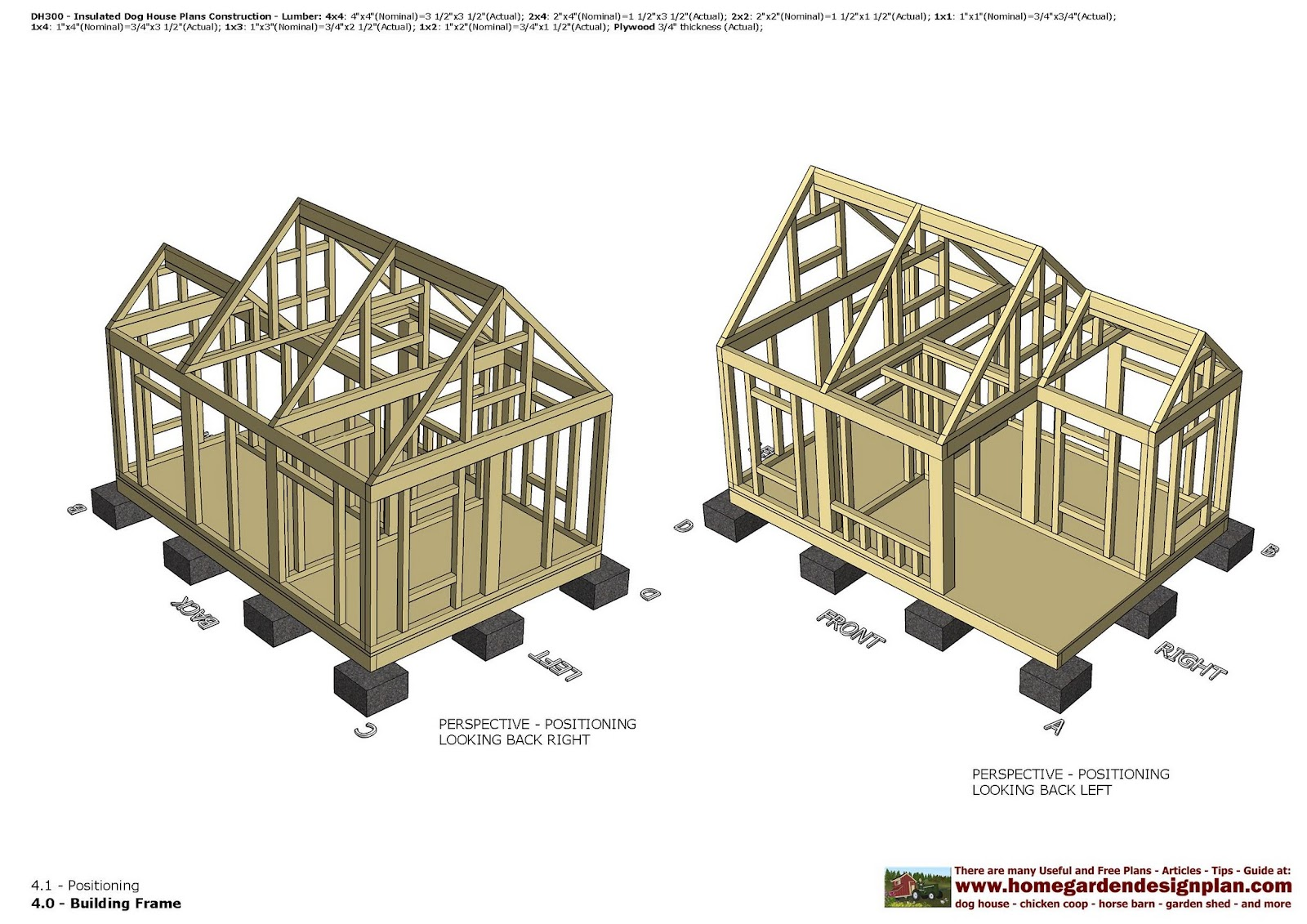 Home garden plans dh300 insulated dog house plans for Kennel construction plans