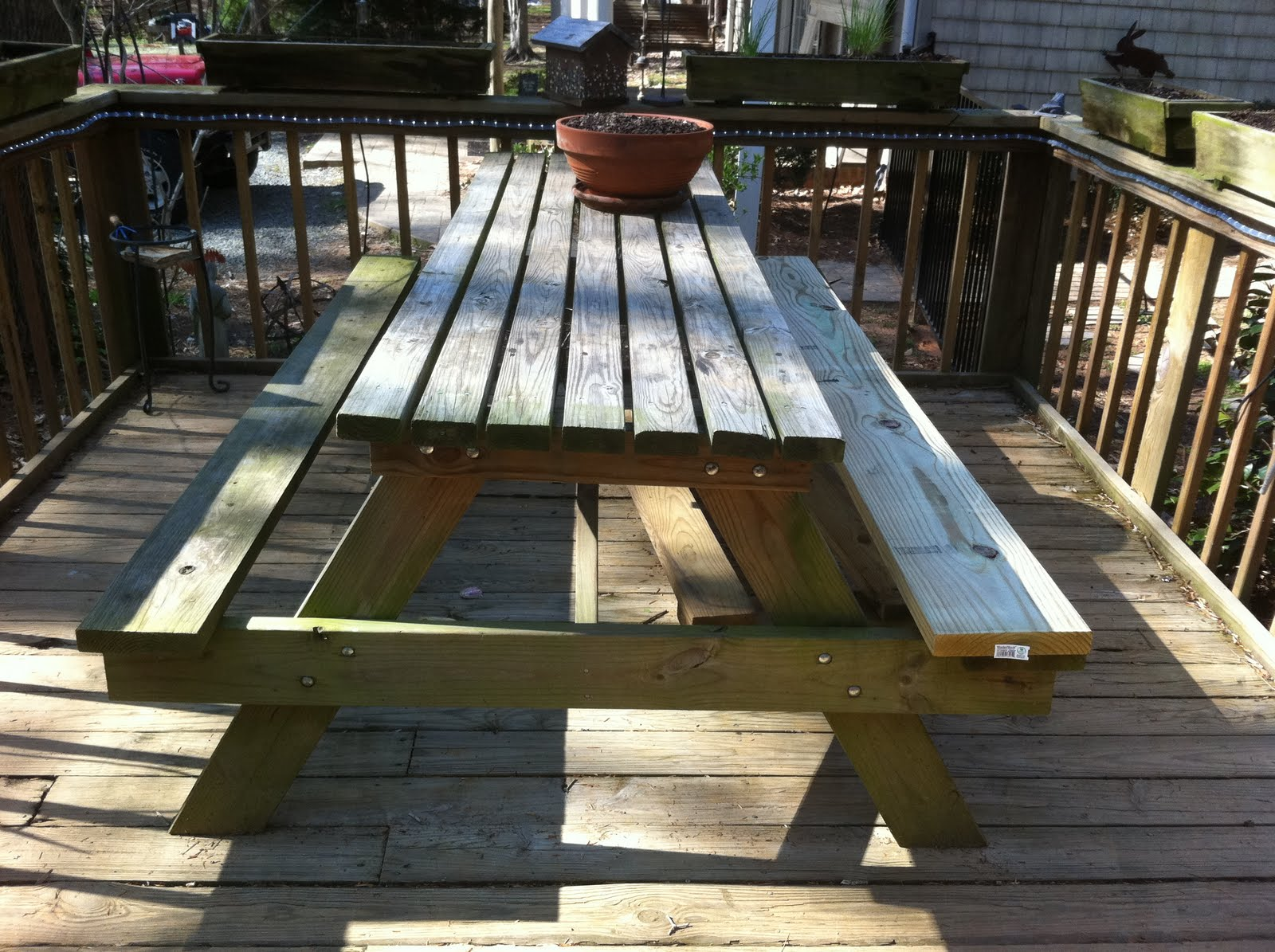 4 foot picnic table plans