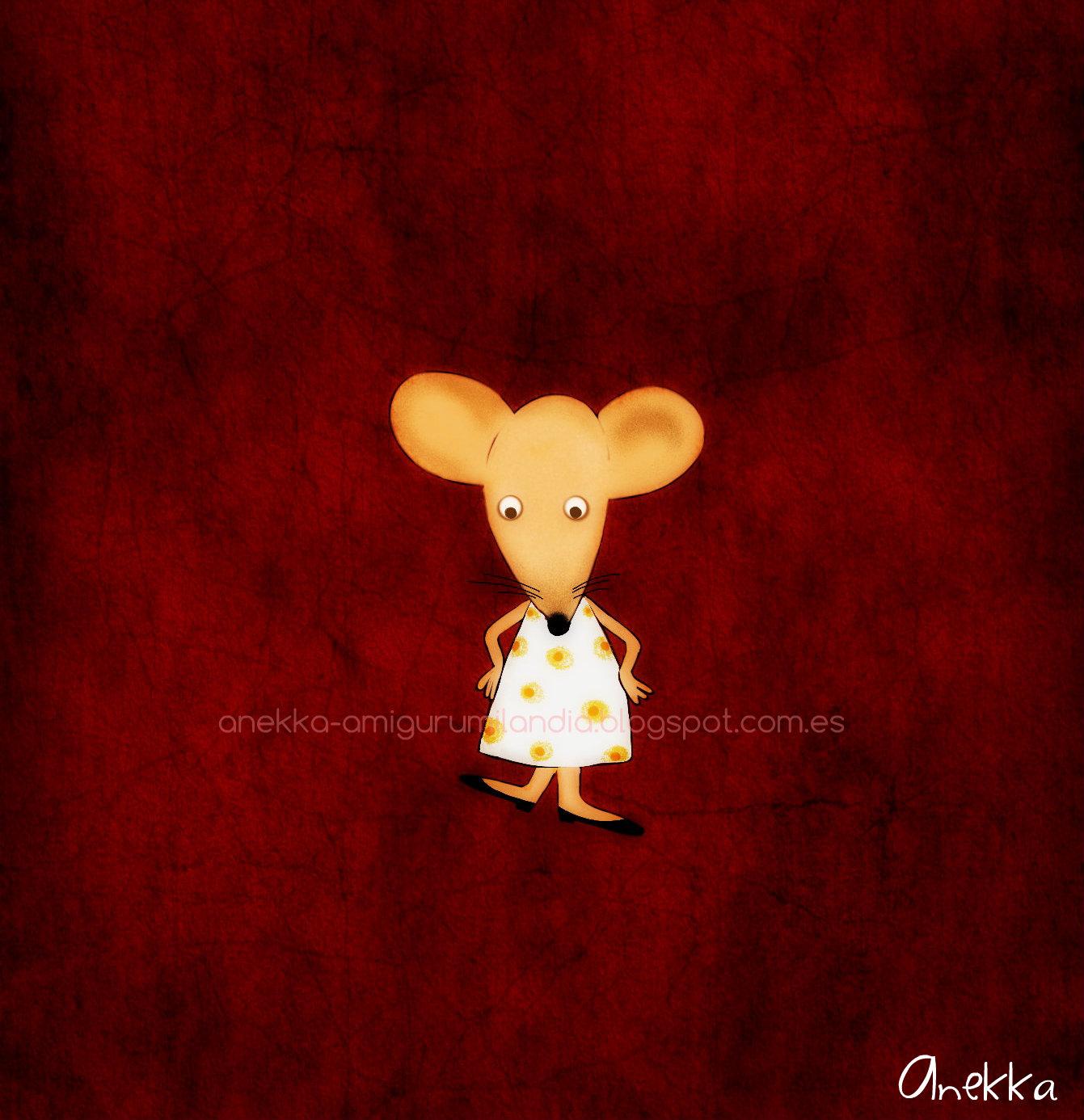Ratita  ilustracion anekka handmade