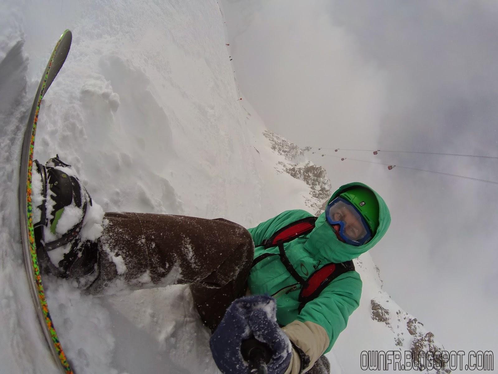 Ownfreeride extreme team na lodowcu Stubaier Gletscher