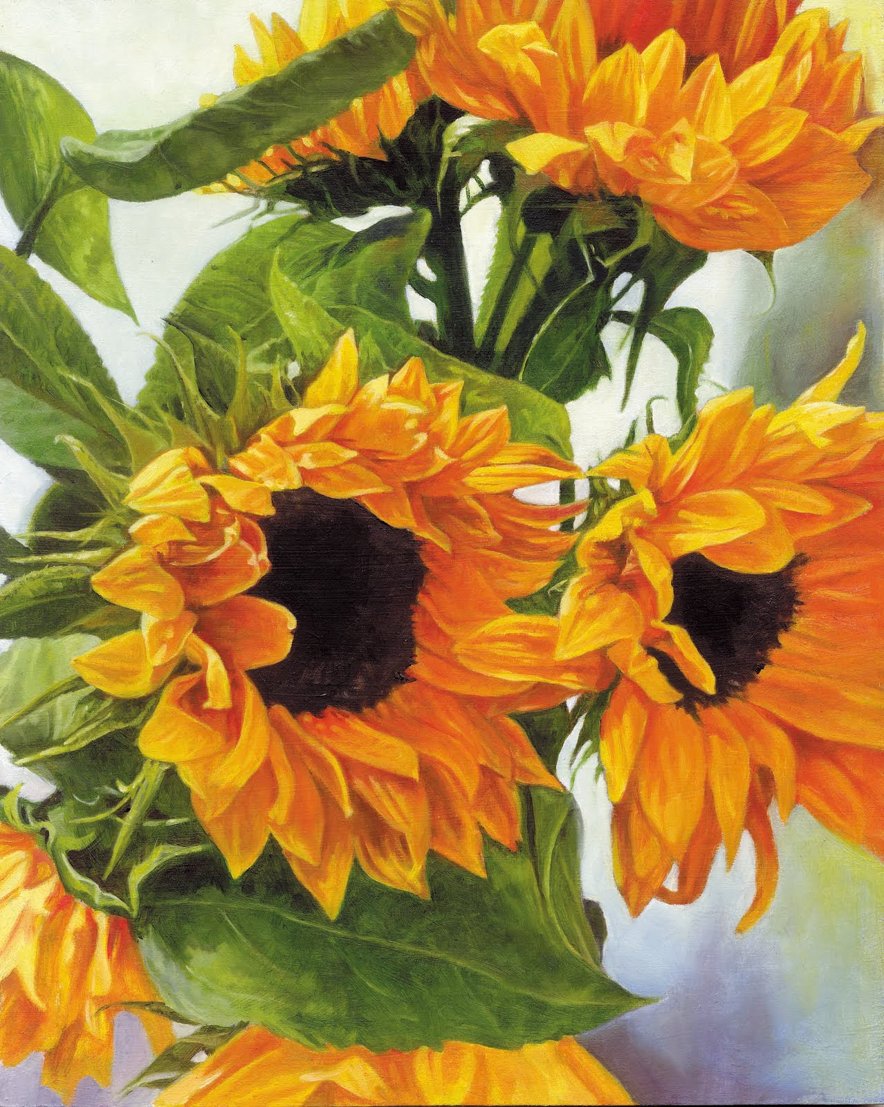 Julie Douglas, Notes from The Atelier: Sunflowers, oil ...