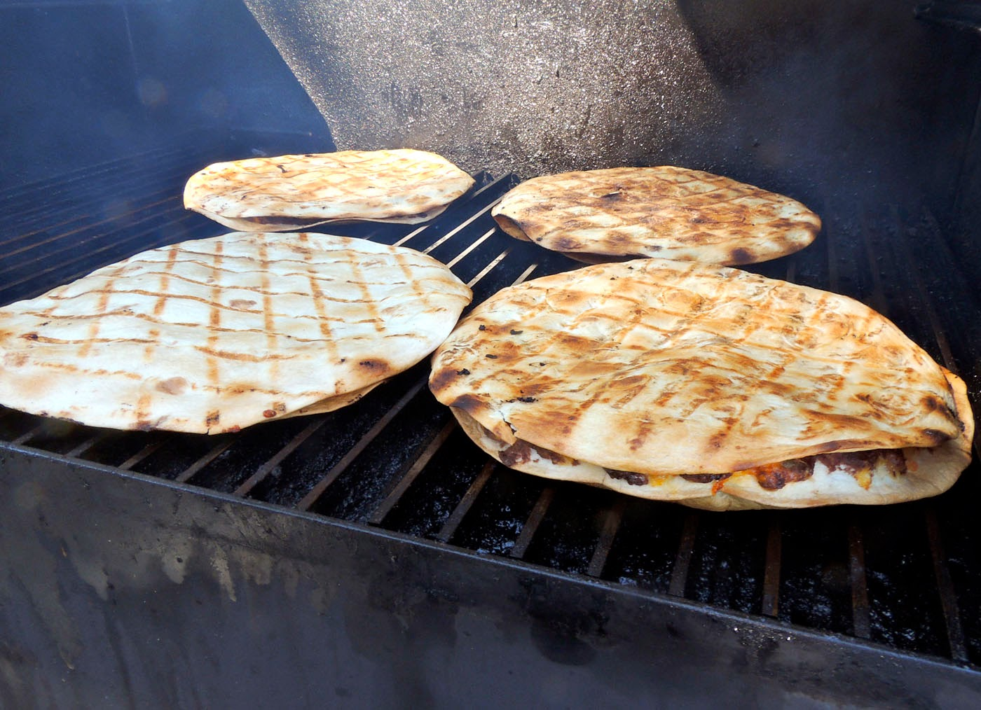 Grilled flour tortillas