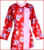 Model baju batik merah