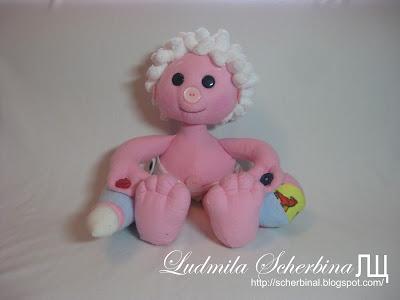 Развивающая текстильная кукла Пуговка