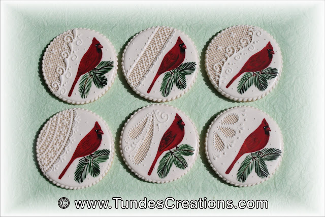 Cardinal in Winter cookies by Tunde Dugantsi