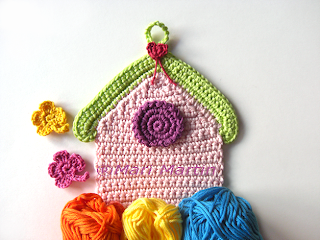 crochet birdhouse garland bunting