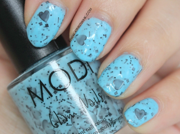 Modi Glam Nails S035 - Love Me Not (close up)