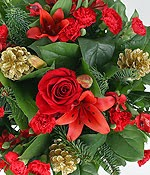 Christmas Celebration and Flowers Basket in UK