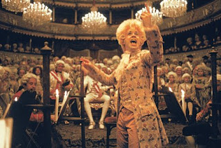 Tom Hulce as  Wolfgang Amadeus Mozart in Amadeus, 1984 musical, Directed by Milos Forman