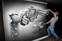 Ben Heine Giant Drawing Art