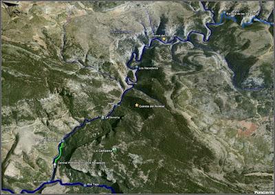 El Río Del Puerto a vista de pájaro (curso bajo)