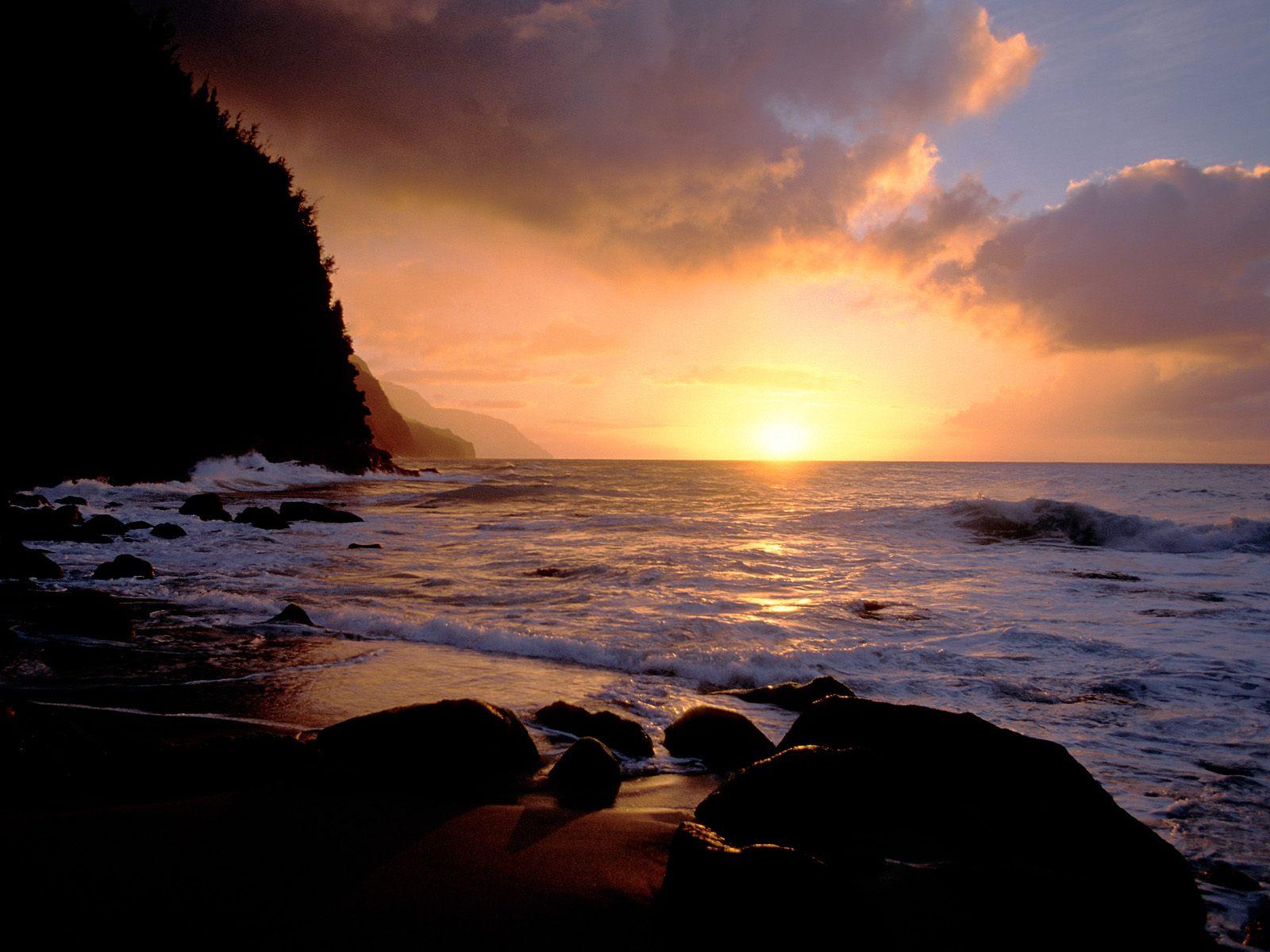 Hawaii Sunset high resolution