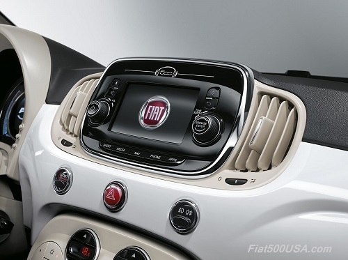 New Fiat 500 Uconnect Radio