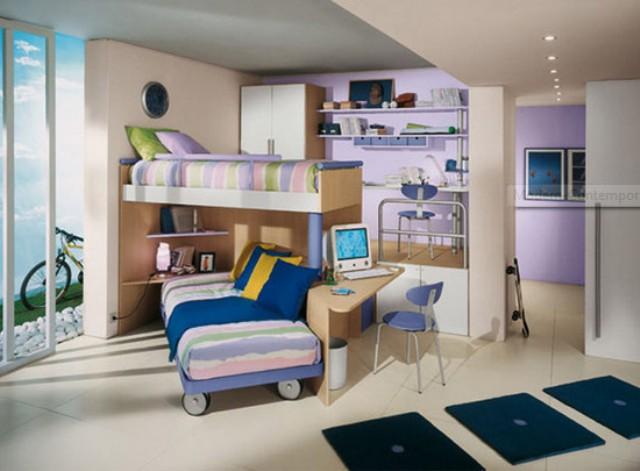 Dekorasi kamar tidur kecil minimalis modern untuk anak anak