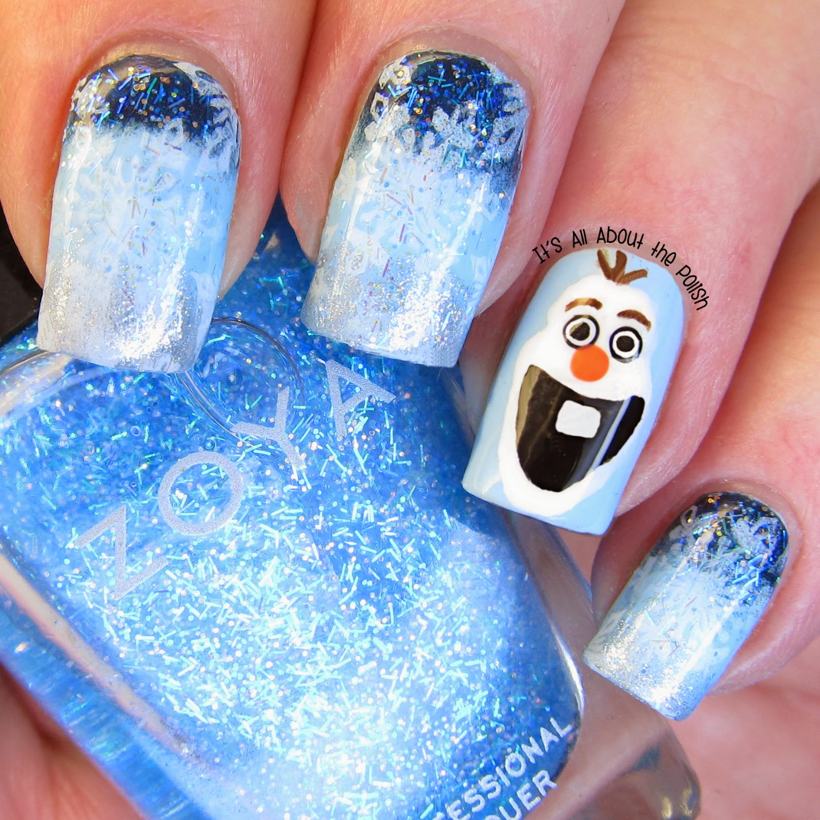 Its all about the polish an monday theme disney olaf from an monday theme disney olaf from frozen nail design prinsesfo Images