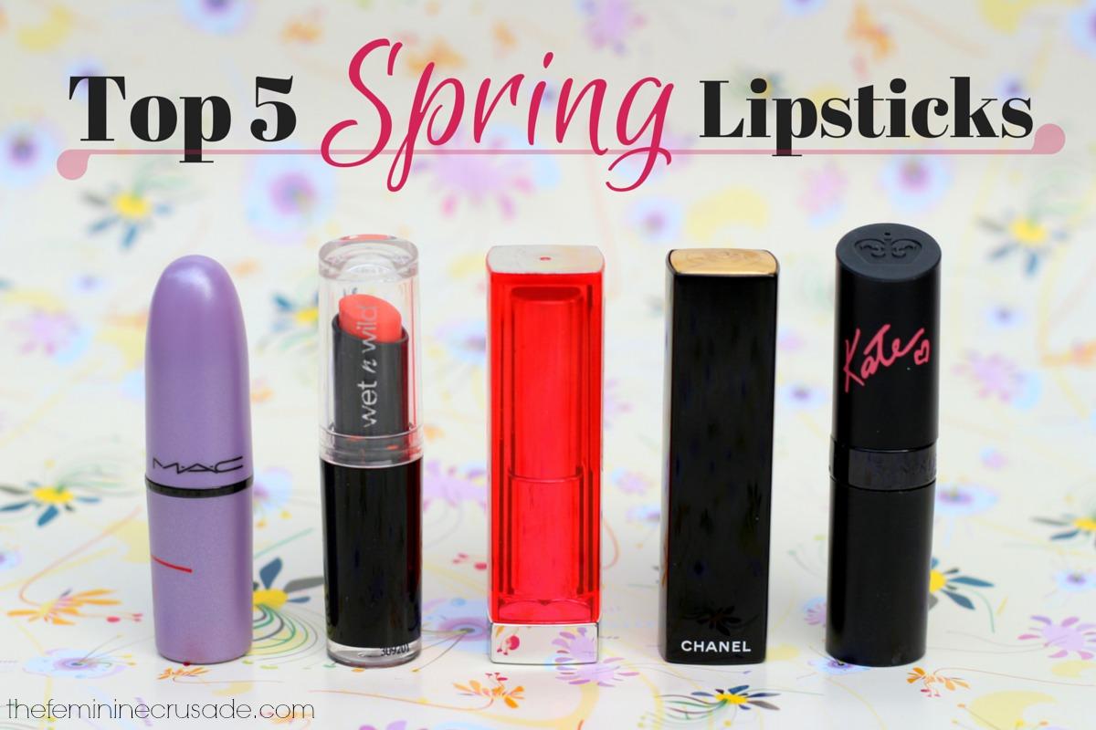 Top 5 Spring Lipsticks
