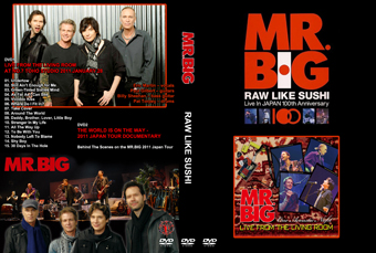 Rock Show Dvd Mr Big Live From The Living Room Raw Like Sushi 100