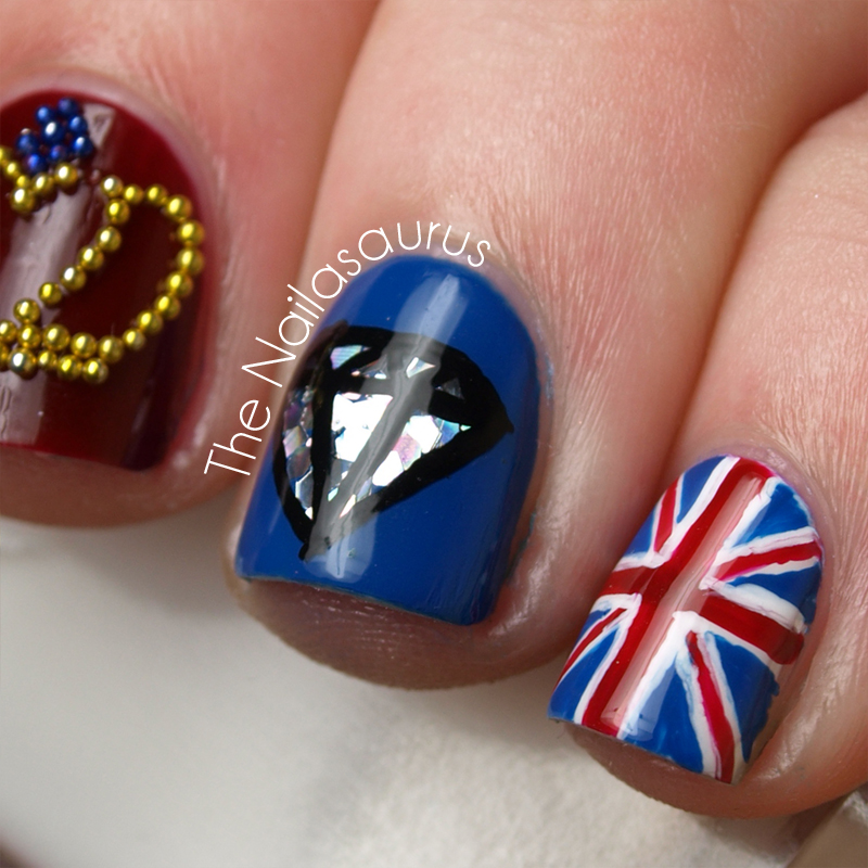 Diamond Jubilee Nail Art! | The Nailasaurus | UK Nail Art Blog