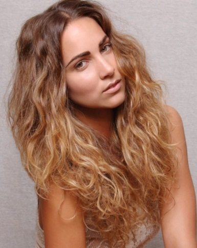 Long Messy Ombre Hairstyle 2014