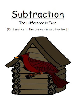 Fern Smith's Classroom Ideas FREE Math Subtraction Center Game ~ The Difference is Zero Concept! Center Game