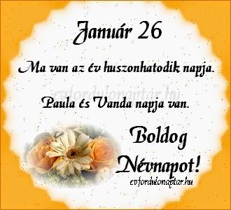 Január 25, Paula, Vanda névnap