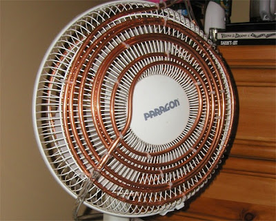Fan and Copper Tubing Survival Air Conditioner Improvised